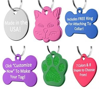 Vet Recommended Pet ID Tag Dog Personalized