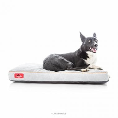 Brindle Memory Foam Dog Bed with Removable Washable Cover