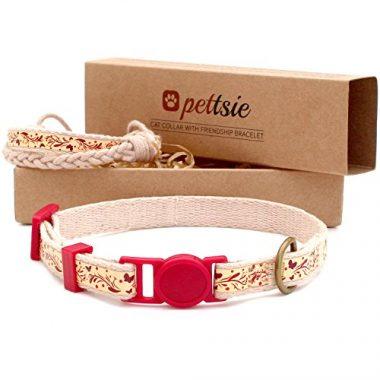 Petsie Cat Collar Safety and Friendship Bracelet