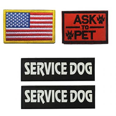 GrayCell Military Morale Service Dog Patch for Tactical Vest