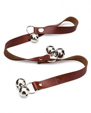 The Dog Goes Ruff Leather Dog Doorbells for Housetraining