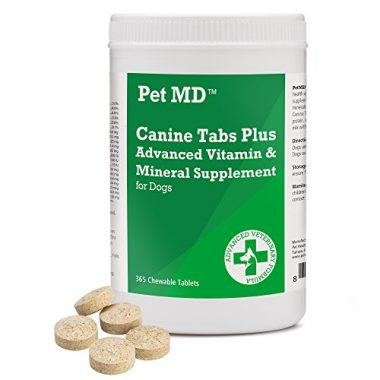 Pet MD Canine Tabs Plus Advanced Multivitamins Supplement for Older Dogs