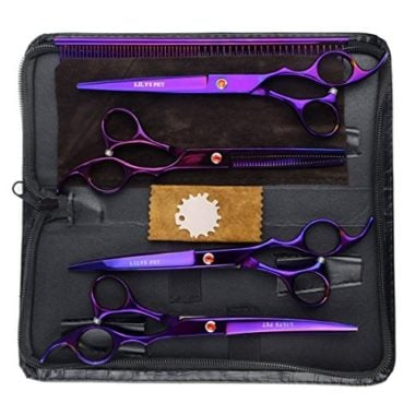LILYS PET Professional Grooming Titanium Scissors Suit
