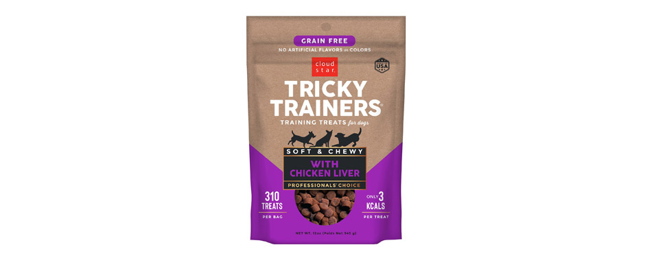 Cloud Star Tricky Trainers Chewy Liver Flavor Dog Treats