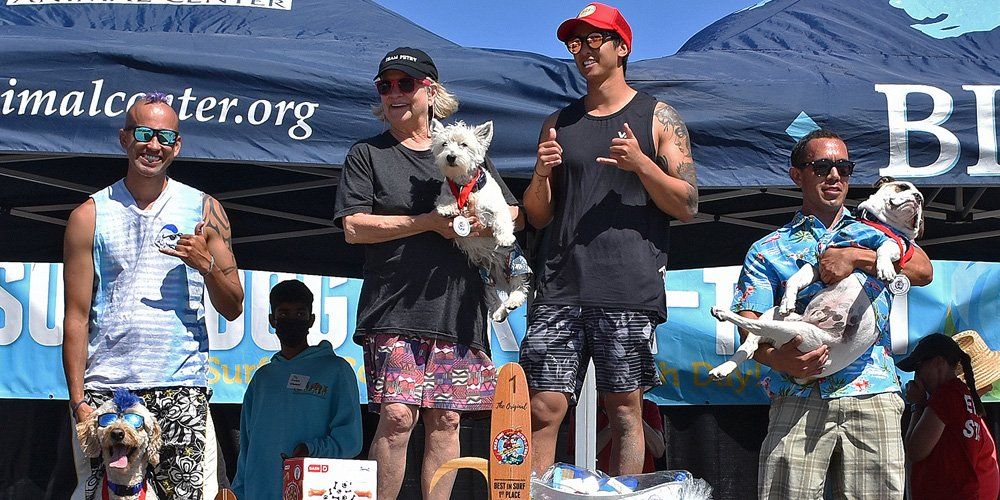 West Highland Terrier Beats Out The Big Dogs in Annual Canine Surfing Competition