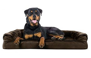 FurHaven Ultra Plush / Velvet Orthopedic Dog Coach Sofa Bed