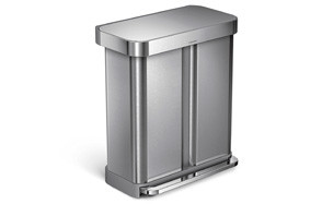 simplehuman Stainless Steel Dual Trash Can