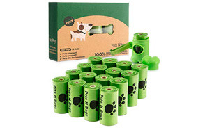 Earth Friendly Dog Poop Bags with Dispenser by Pets N Bags