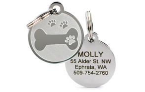 Go Tags Custom Engraved Pet ID Tags