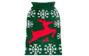 Holiday Christmas Elk Pet Clothes Cat Sweater by BOBIBI