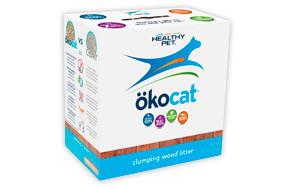 Okocat Natural Wood Clumping Cat Litter by Healthy Pet