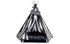 Pet Supplies Black And White Strip Pet Teepee