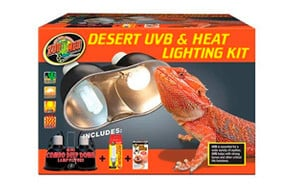 Zoo Med Desert UVB & Heat Lighting Dual Kit
