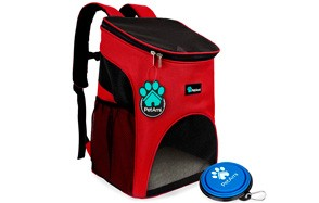 Premium Pet Carrier Backpack for Cats and Small Dogs by PetAmi