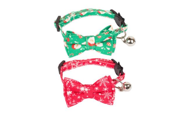 ADOGGYGO Christmas Cat Collar