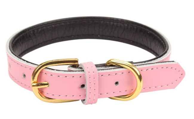 AOLOVE Leather Dog Collars