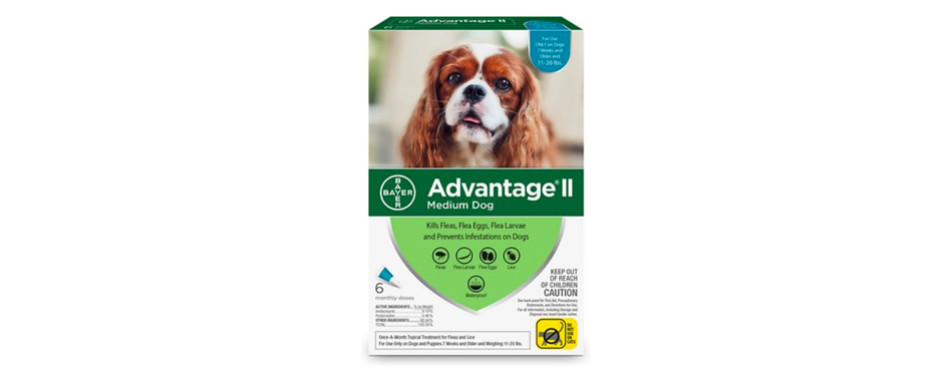 Advantage II Flea Treatment for Medium Dogs