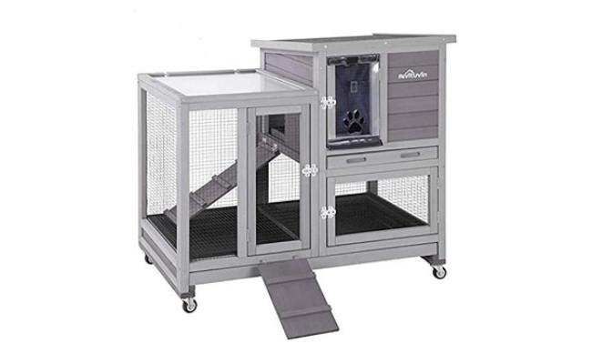 Aivituvin Upgrade Hutch Rabbit Cage