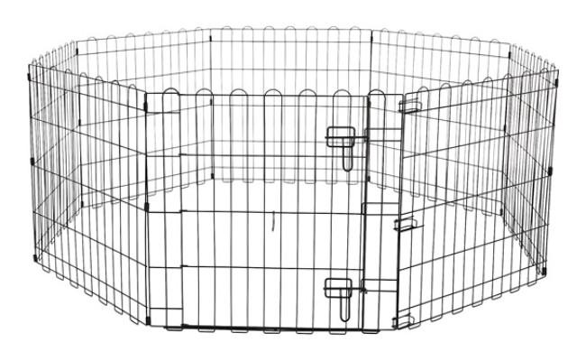 Amazon Basics Foldable Metal Pet Dog Exercise Fence Pen
