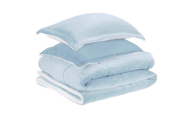 Amazon Basics Micromink Sherpa Comforter Bed Set