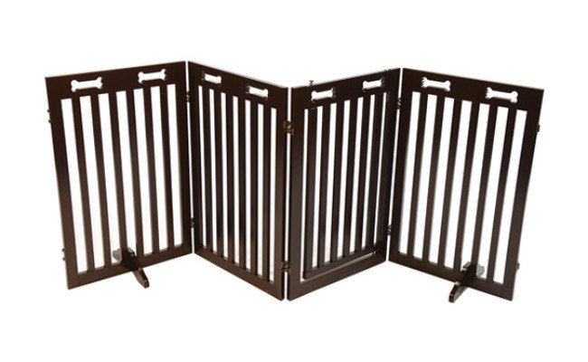 Arf Pets Free Standing Wood Dog Gate
