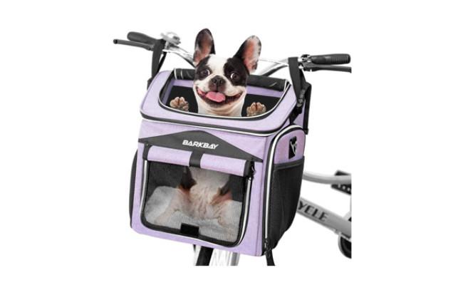 BARKBAY Dog Bike Basket Carrier