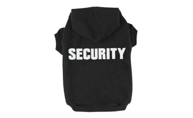 BINGPET BA1002-1 Security Dog Zip Up Hoodie