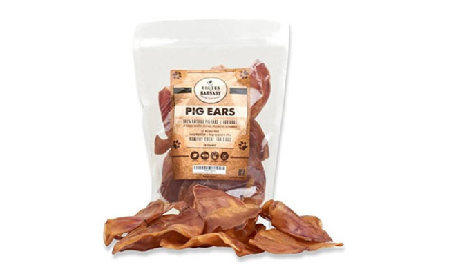 BRUTUS & BARNABY Pig Ears for Dogs