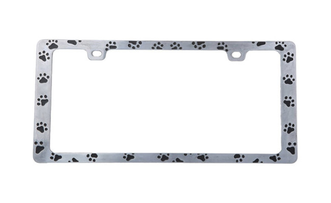 Bell Automotive Paw Print License Plate Frame