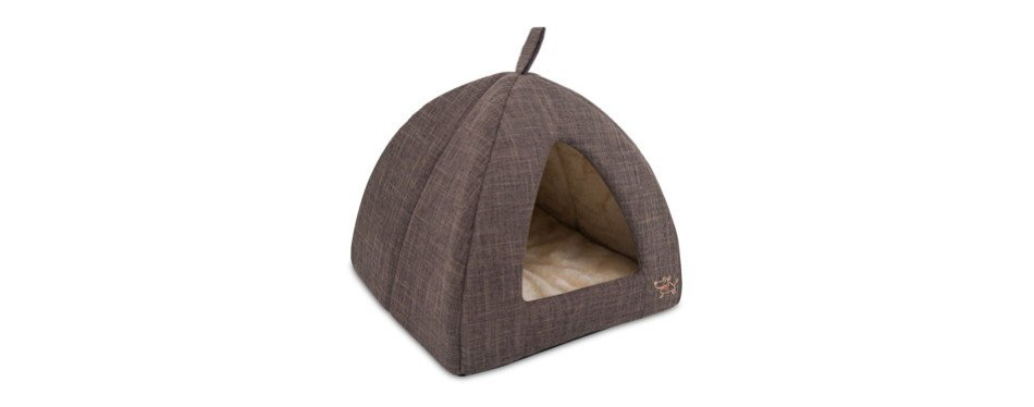Best Pet Supplies Corduroy Tent Bed for Cats