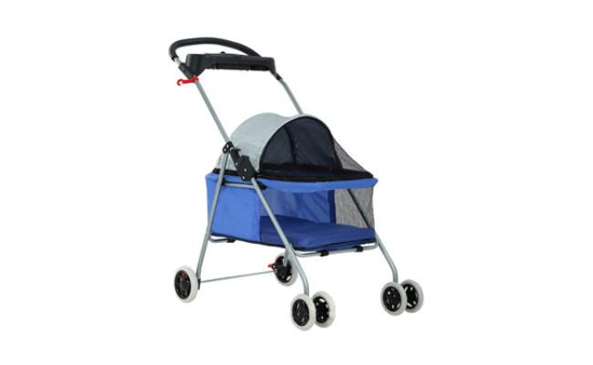 BestPet 4 Wheels Travel Kitty Stroller