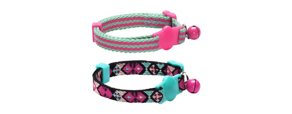 Blueberry Adjustable Breakaway Cat Collar with Bell