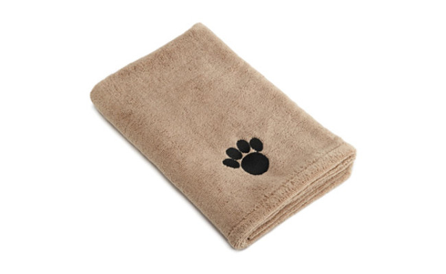 Bone Dry Microfiber Dog Bath Towel