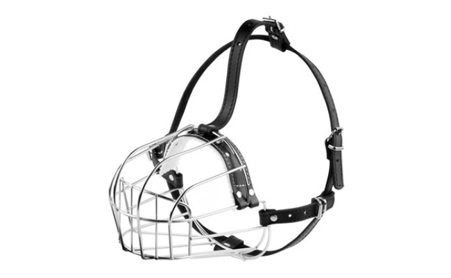BronzeDog Wire Basket Dog Muzzle