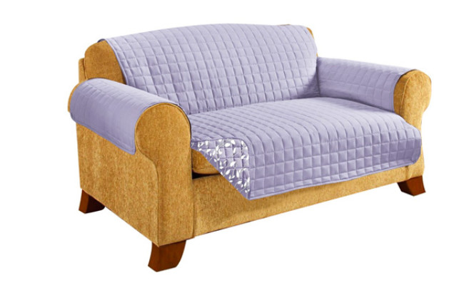 CELINE LINEN Reversible Quilted Couch Protector