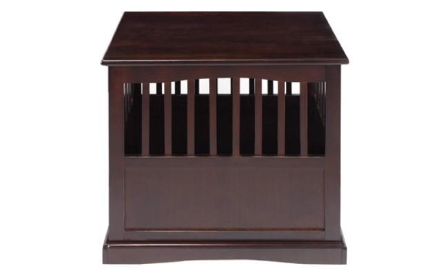 Casual Home Wooden Dog Crate End Table