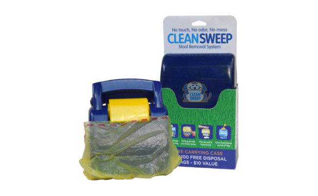Clean Sweep Hand Held Dog Waste Disposal System