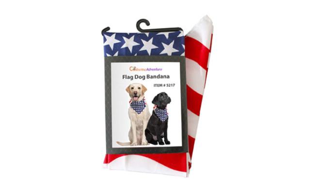 Costume Adventure USA Flag Dog Bandana
