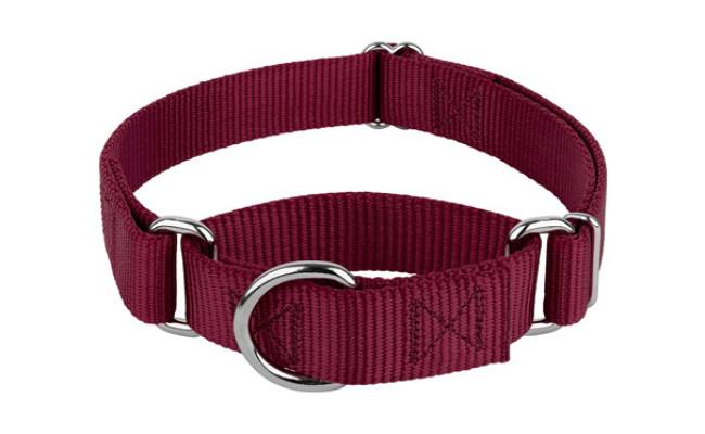 Country Brook Petz Burgundy Martingale Dog Collar