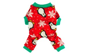 Cute Penguin Xmas Pet Clothes Pajamas for Dogs by Fitwarm
