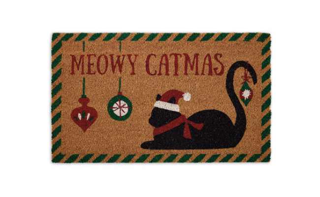 Design Imports Meowy Catmas Door Mat
