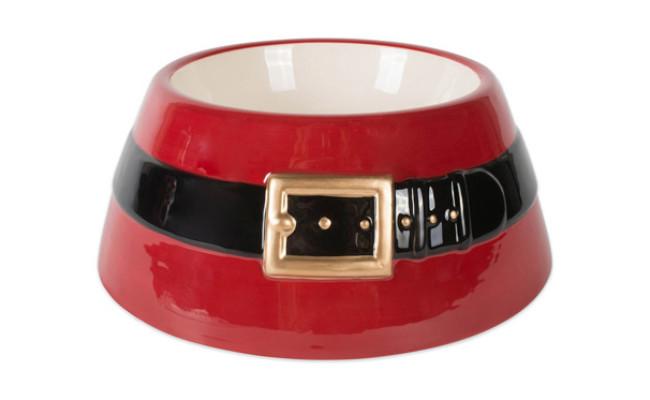 Design Imports Santa Belt Pet Bowl