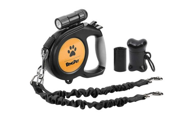 Dual Retractable Dog Leash