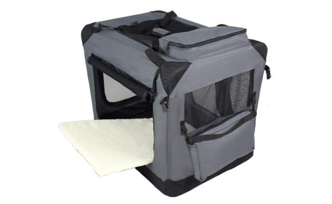 EliteField 3 Door Folding Dog Crate