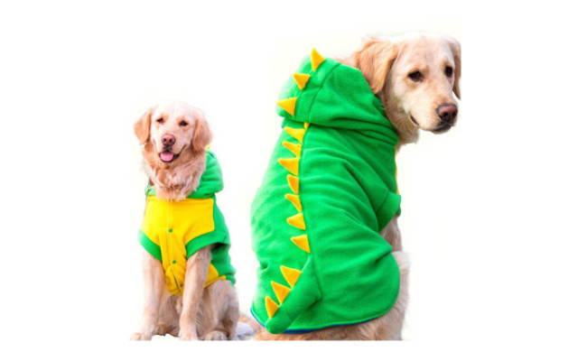 FLAdorepet Funny Halloween Dinosaur Costume Jacket for Dogs