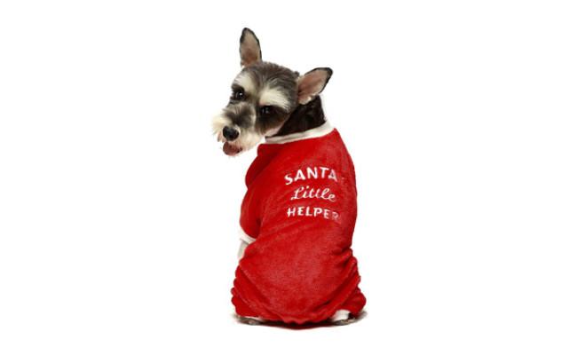 Fitwarm Santa's Little Helper Reindeer Dog Christmas Pajamas