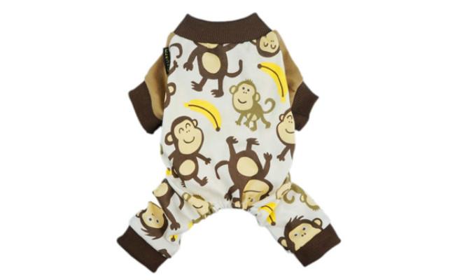 Fitwarm Soft Cotton Adorable Monkey Dog Pajamas