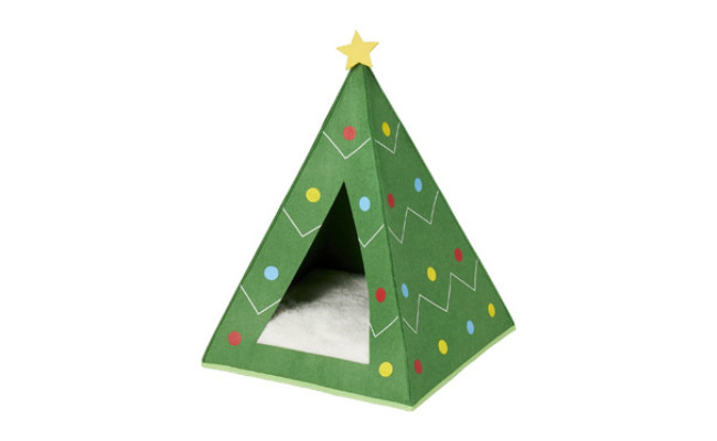 Frisco Holiday Dog Christmas Tree Cave Bed