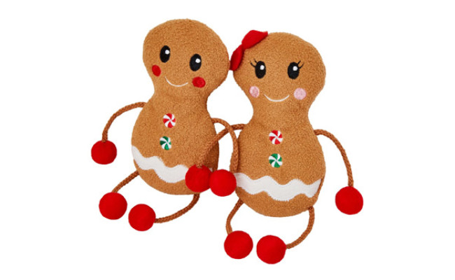 Frisco Holiday Gingerbread Pals Plush Kicker Cat Toy