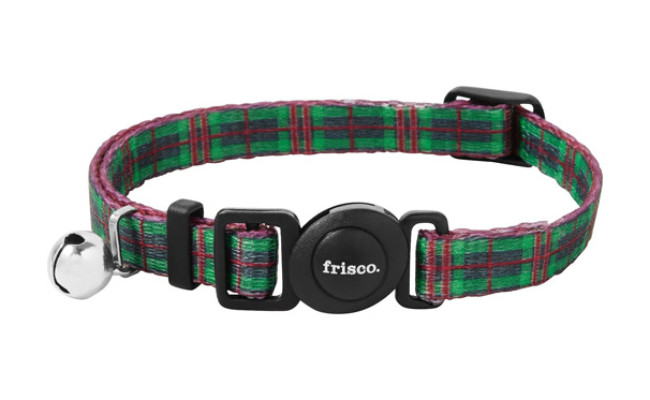 Frisco Holiday Plaid Polyester Breakaway Cat Collar